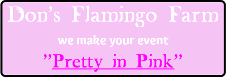 "Don's Flamingo Farm we make your event ""Pretty in Pink"""